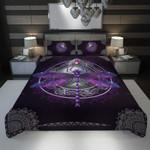 3D Full Printing Bedding Set - Dragonfly (Purple Version)
