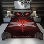 3D Full Printing Bedding Set - Dragonfly (Red Version 2)