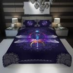 3D Full Printing Bedding Set - Dragonfly (Purple Version 2)