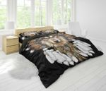 3D Full Printing Bedding Set - Wolf Native Americans