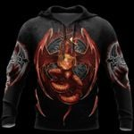 3D ARMOR TATTOO AND DUNGEON DRAGON HOODIE HAC140102