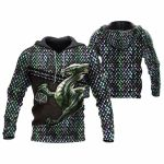 3D TATTOO AND DUNGEON DRAGON HOODIE NM050971
