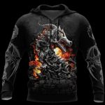 3D ARMOR TATTOO AND DUNGEON DRAGON HOODIE HAC140103
