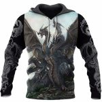 3D TATTOO AND DUNGEON DRAGON HOODIE NM050968
