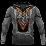 3D TATTOO AND DUNGEON DRAGON HOODIE HAC020108