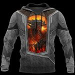 3D TATTOO AND DUNGEON DRAGON HOODIE HAC020115