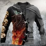 3D TATTOO AND DUNGEON DRAGON HOODIE HAC111201