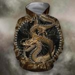 3D ALL OVER PRINT DRAGON IN CHINESE HOODIE