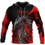 TATOO DUNGEONS AND DRAGONS ARMOR 3D HOODIE NM050958