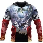 3D TATTOO AND DUNGEON DRAGON HOODIE NM050966