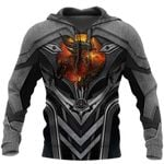 3D TATTOO AND DUNGEON DRAGON HOODIE HAC101202