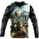 3D ALL OVER PRINTED DRAGON HOODIE NM050938