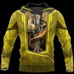 3D TATTOO AND DUNGEON DRAGON HOODIE yellow