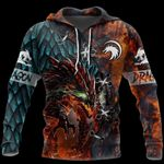 3D TATTOO AND DUNGEON DRAGON T SHIRT HOODIE TR121202