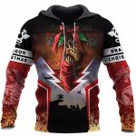 3D TATTOO AND DUNGEON DRAGON HOODIE NM050967