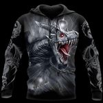 3D ARMOR TATTOO AND DUNGEON DRAGON HOODIE PI150102
