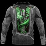 3D TATTOO AND DUNGEON DRAGON HOODIE HAC27122