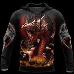 3D ARMOR TATTOO AND DUNGEON DRAGON HOODIE HAC140101