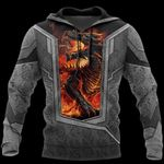 3D TATTOO AND DUNGEON DRAGON HOODIE HAC27126