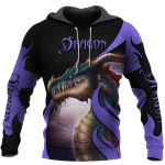 TATOO DUNGEONS AND DRAGONS ARMOR 3D HOODIE NM050957