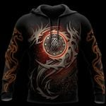 3D ARMOR TATTOO AND DUNGEON DRAGON HOODIE PI150101