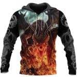 3D ALL OVER PRINTED DRAGON HOODIE NM050940