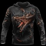 3D ARMOR TATTOO AND DUNGEON DRAGON HOODIE PI150104