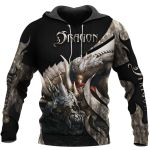TATOO DUNGEONS AND DRAGONS ARMOR 3D HOODIE NM050962