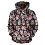 Multi-Colored Skull Hoodies