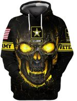 Proud Army Family 1116 Skull