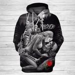 Ride or Die Skull Love 3D Unisex Hoodie 016