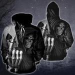 New Poker King Skull 3D Hoodie 01