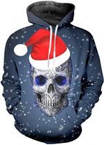Christmas Skull Hoodie 1
