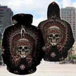3D Native Skull Printed Hoodie 006