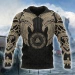 Viking Munin - Tattoo Style Hoodie Version 2.0