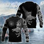 Vikings The Raven of Odin Tattoo Special Hoodie