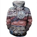 3D All Over Printed Viking Warrior Shirts