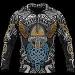Viking Odin Wotan Pullover Hoodie A0
