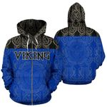 Viking All Over ZipUp Hoodie Raven Bn10