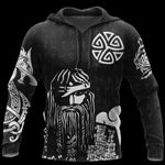 3D All Over Printed Viking Warrior Hoodie