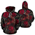 3D Skull Rose Unisex Hoodie 024
