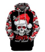 Santa Not Dead Skull Christmas US Unisex Size Hoodie