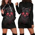 Smelting Skull Hoodie Dress