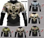New US Armed Force Skull Personalized US Unisex Size Hoodie