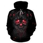 3D Smelting Skull Unisex Hoodie 029