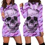 Violet Camo Skull Hoodie Dress