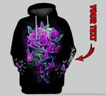 Skull Butterflies Angels In Heaven Personalized Unisex Hoodie HG
