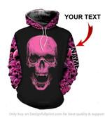 Personalized Purple Pink Skull Unisex Hoodie