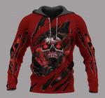 Personalized Red Screaming Skull Unisex Hoodie
