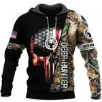 Deer Hunting Skull US Unisex Size Hoodie